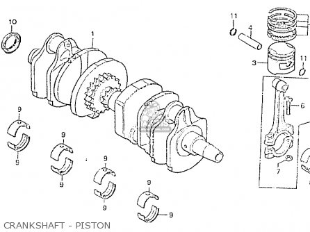 Honda Cb750p7-ii canada Crankshaft - Piston