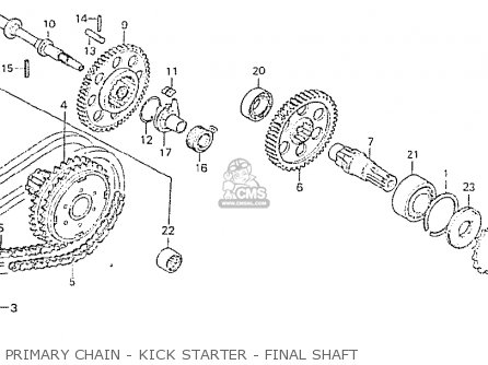 Honda Cb750p7-ii canada Primary Chain - Kick Starter - Final Shaft