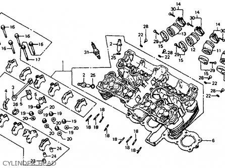 Honda Cb750sc Nighthawk 750 1983 d Usa Cylinder Head