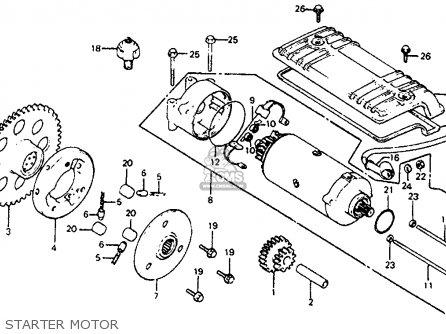 Honda Cb750sc Nighthawk 750 1983 d Usa Starter Motor