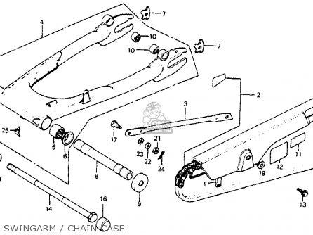 Honda Cb750sc Nighthawk 750 1983 d Usa Swingarm   Chain Case