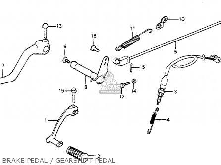 Honda Cb750sc Nighthawk 750 1983 Usa Brake Pedal   Gearshift Pedal