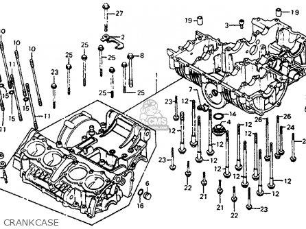 Honda Cb750sc Nighthawk 750 1983 Usa Crankcase