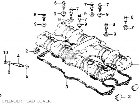 Honda Cb C Custom B Usa Cylinder Head Cover Mediumhu E A Cee on Honda Carburetor Parts Diagram 1981 Cb 900