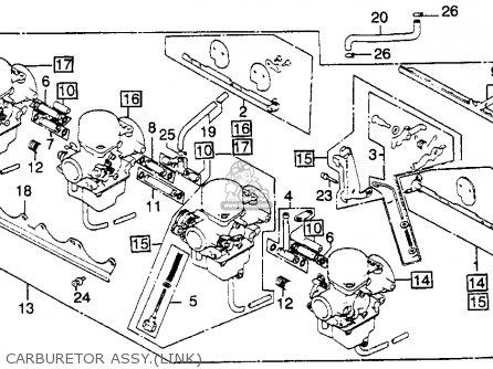 Honda Cb900c 900 Custom 1982 c Usa Carburetor Assy link
