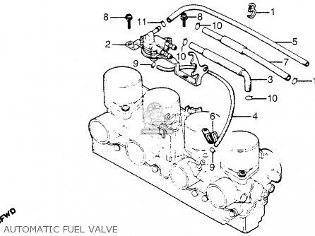 Honda Cb900f 900 Super Sport 1981 b Usa Automatic Fuel Valve
