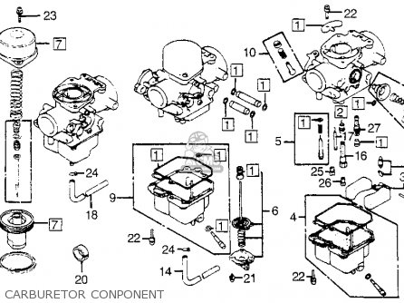 Honda Cb900f 900 Super Sport 1981 b Usa Carburetor Conponent