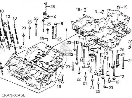 Honda Cb900f 900 Super Sport 1981 b Usa Crankcase