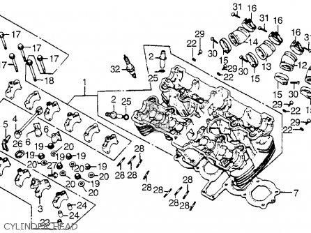 Honda Cb900f 900 Super Sport 1981 b Usa Cylinder Head