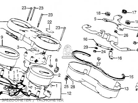 Honda Cb900f 900 Super Sport 1981 b Usa Speedometer   Tachometer