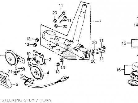Honda Cb900f 900 Super Sport 1981 b Usa Steering Stem   Horn
