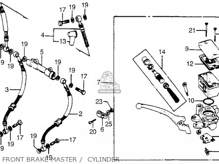 Honda Cb900f 900 Super Sport 1981 Usa Front Brake Master    Cylinder