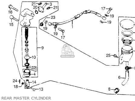 Honda Cb900f 900 Super Sport 1981 Usa Rear Master Cylinder