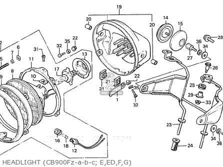honda cb900f2c bol d or parts list partsmanual partsfiche