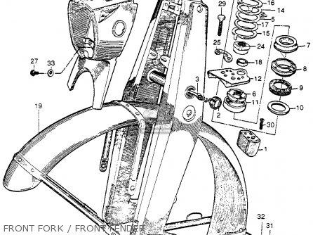 Honda Cb92 Benly Super Sport 125 1959 Usa Front Fork   Front Fender