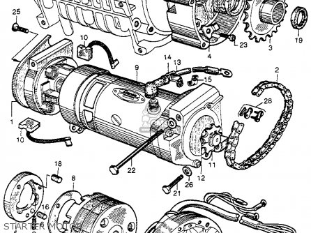 Honda Cb92 Benly Super Sport 125 1959 Usa Starter Motor