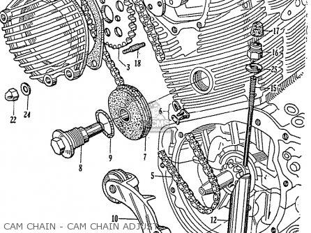 Honda cb92 benly super sport 125 general export cam chain cam chain
