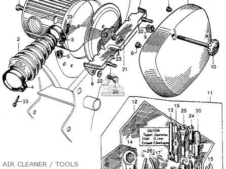 Honda Cb92 Benly Super Sport 1959 Usa Air Cleaner   Tools