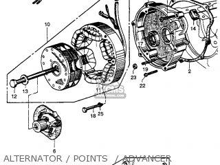 Honda Cb92 Benly Super Sport 1959 Usa Alternator   Points    Advancer