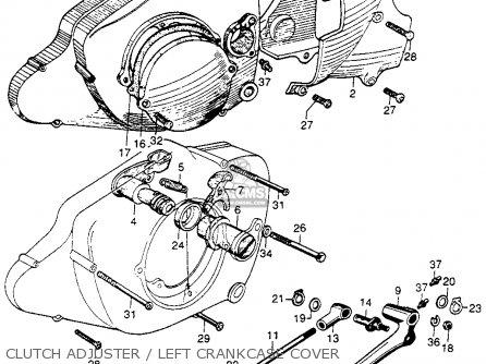 Honda Cb92 Benly Super Sport 1959 Usa Clutch Adjuster   Left Crankcase Cover