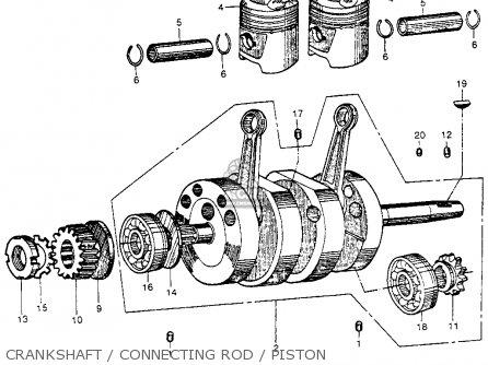Honda Cb92 Benly Super Sport 1959 Usa Crankshaft   Connecting Rod   Piston