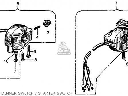 Honda Cb92 Benly Super Sport 1959 Usa Dimmer Switch   Starter Switch