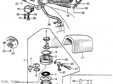 Honda Cb92 Benly Super Sport 1959 Usa Fuel Tank