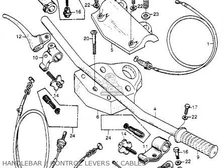 Honda Cb92 Benly Super Sport 1959 Usa Handlebar   Control Levers    Cables