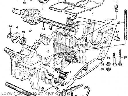 Honda Cb92 Benly Super Sport 1959 Usa Lower Crankcase   Kick Starter