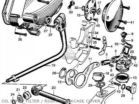 Honda Cb92 Benly Super Sport 1959 Usa Oil Pump   Filter   Right Crankcase Cover