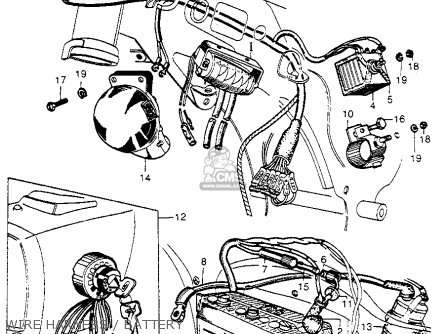 Honda Cb92 Benly Super Sport 1959 Usa Wire Harness   Battery