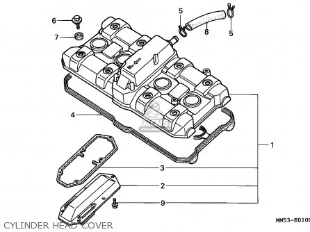 Honda Cbr1000f Hurricane1000 1987 H Germany Parts Lists And Schematics