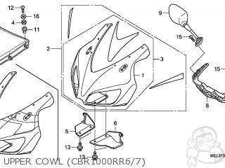 honda cbr1000rr fireblade 2006 6 korea kph parts lists and Honda CBR 1000RR upper cowl cbr1000rr6 7