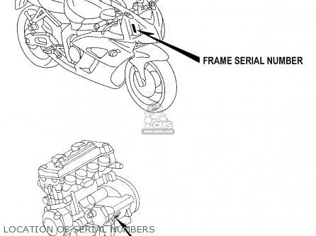 honda cbr1000rr repsol 2005 5 usa parts lists and schematics 2006 Honda CBR 1000RR honda cbr1000rr repsol 2005 5 usa location of serial numbers location of serial numbers honda cbr1000rr