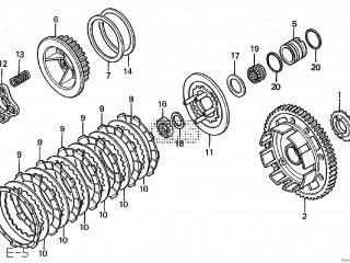 Honda CBR250R 1989 (K) JAPAN MC19-105 parts lists and schematics