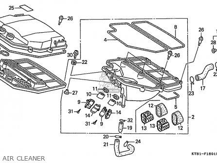 Honda Cbr400rr 1989 k Japanese Domestic   Nc23-109 Air Cleaner