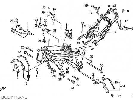 Honda Cbr400rr 1989 k Japanese Domestic   Nc23-109 Body Frame
