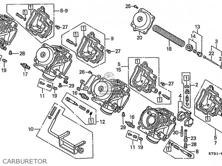 Honda Cbr400rr 1989 k Japanese Domestic   Nc23-109 Carburetor