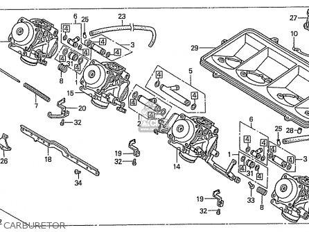 Honda Cbr400rr 1989 k Japanese Domestic   Nc23-109 Carburetor