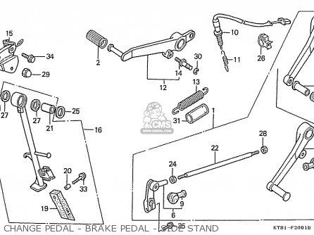 Honda Cbr400rr 1989 k Japanese Domestic   Nc23-109 Change Pedal - Brake Pedal - Side Stand