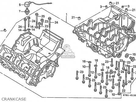 Honda Cbr400rr 1989 k Japanese Domestic   Nc23-109 Crankcase