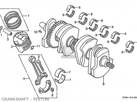 Honda Cbr400rr 1989 k Japanese Domestic   Nc23-109 Crankshaft - Piston