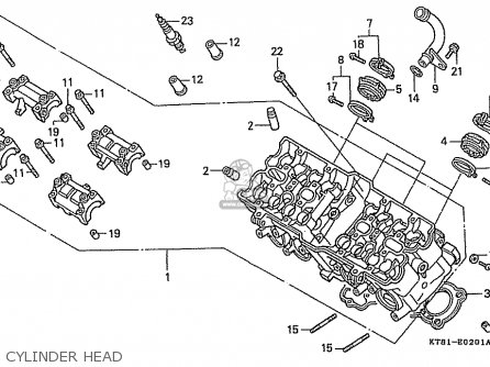 Honda Cbr400rr 1989 k Japanese Domestic   Nc23-109 Cylinder Head