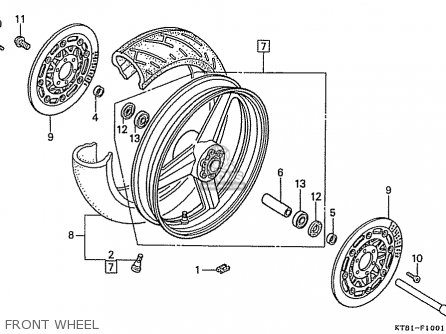 Honda Cbr400rr 1989 k Japanese Domestic   Nc23-109 Front Wheel