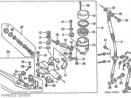 Honda Cbr400rr 1989 k Japanese Domestic   Nc23-109 Handle Lever