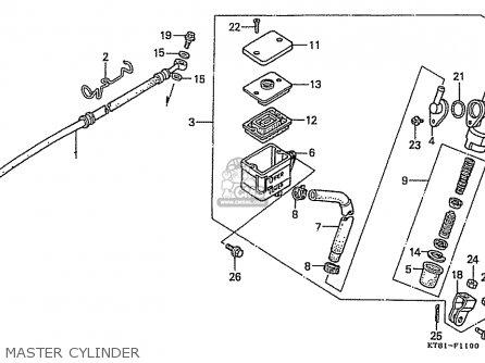 Honda Cbr400rr 1989 k Japanese Domestic   Nc23-109 Master Cylinder