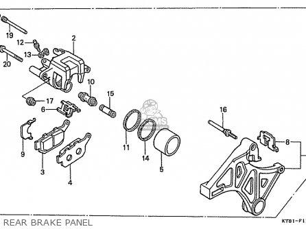 Honda Cbr400rr 1989 k Japanese Domestic   Nc23-109 Rear Brake Panel