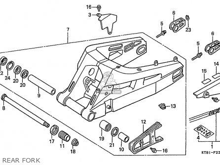 Honda Cbr400rr 1989 k Japanese Domestic   Nc23-109 Rear Fork