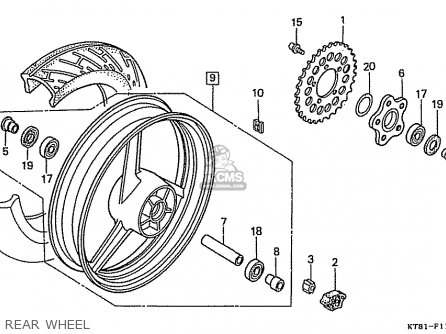 Honda Cbr400rr 1989 k Japanese Domestic   Nc23-109 Rear Wheel