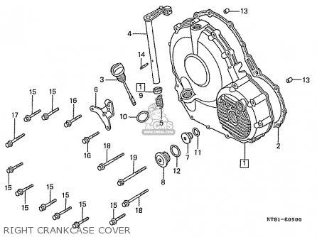 Honda Cbr400rr 1989 k Japanese Domestic   Nc23-109 Right Crankcase Cover